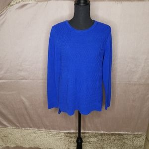 CHRISTOPHER AND BANKS 100% Cotton Blue Sweater
